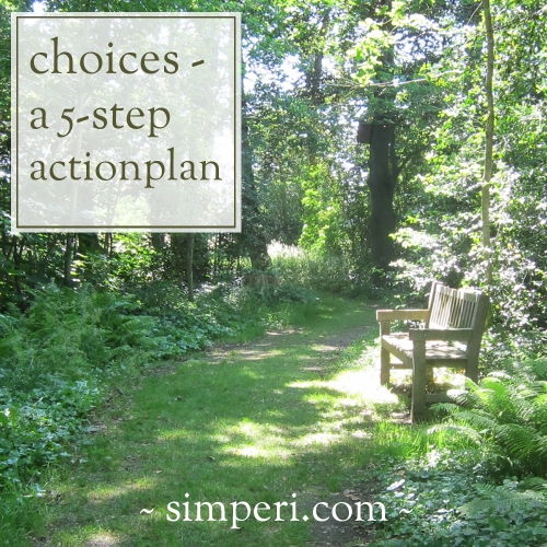 choices - 5 step action plan